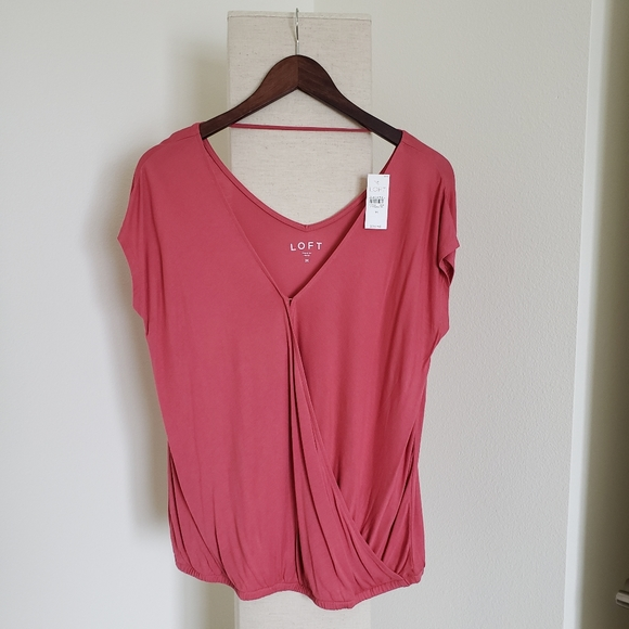 Ann Taylor LOFT Wrap Bar Back Top Various Sizes and Colors NWT